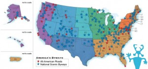 carte des scenic byways USA