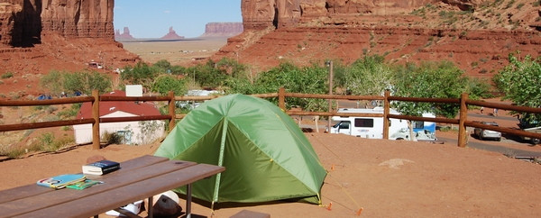 Camping monument valley