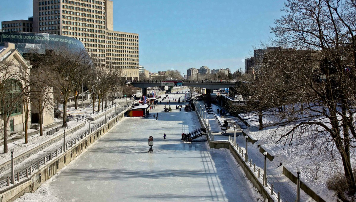 canal rideau hiver