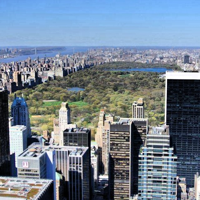 New York - Top of the Rock - Central Park #landscape #newyork #skyline #TopOfTheRock #CentralPark #USA #paysage