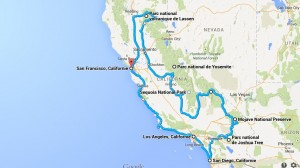 exemple de road trip en californie