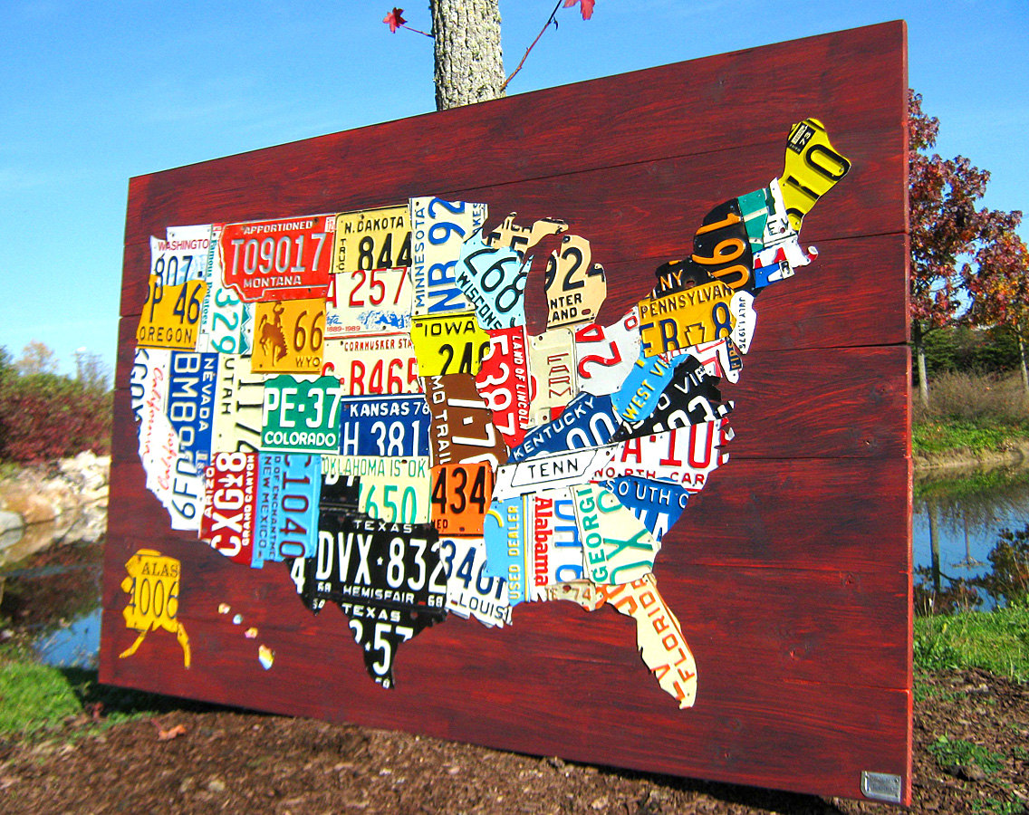 Map USA art