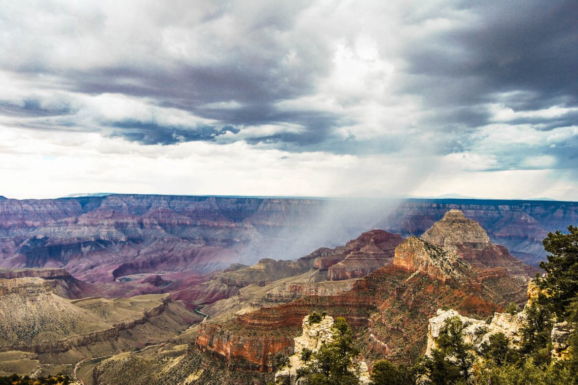 Grand Canyon pluie