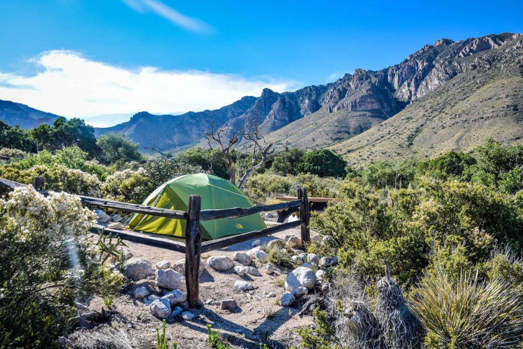 camping Guadalupe Mountains